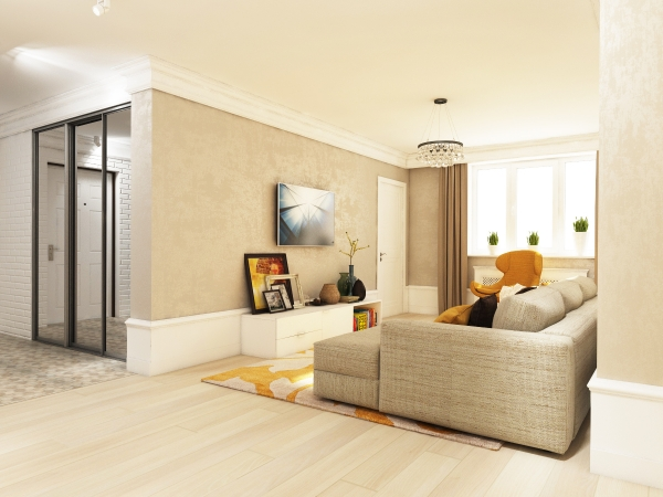 Luxury One Bedroom Interior Design
